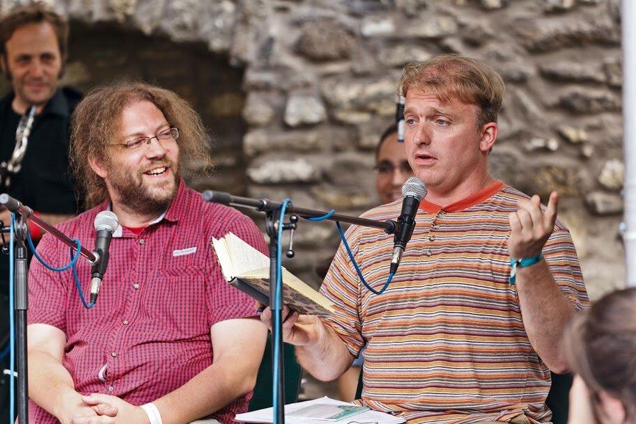 Lackfi János és Varró Dániel