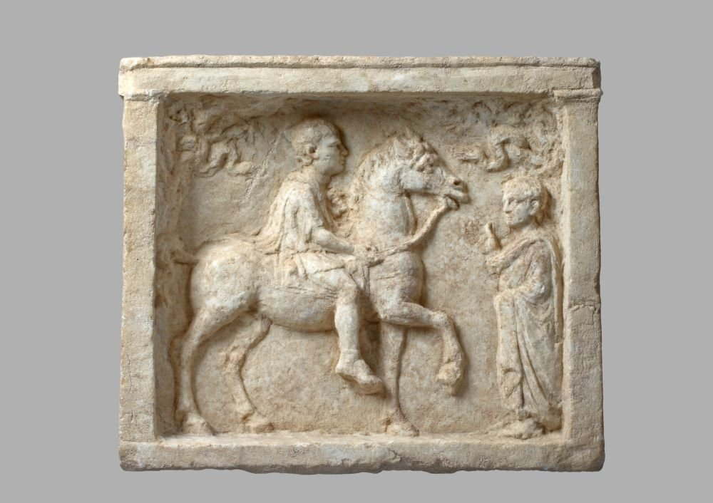 Lovas héros domborműve, Kr. e. 1. század - forrás: Szépművészeti Múzeum