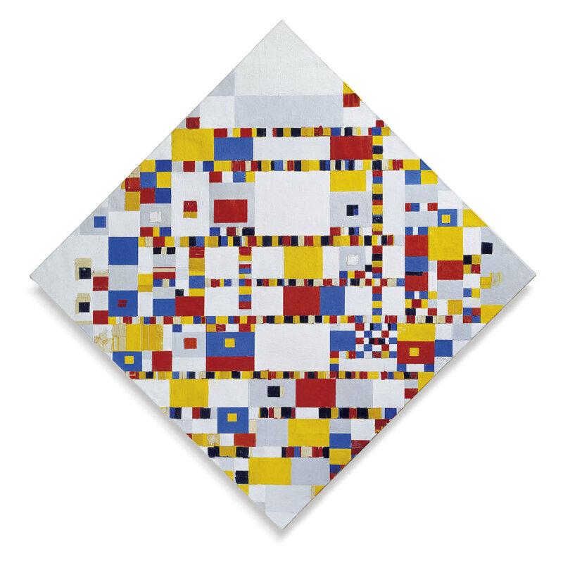 Piet Mondrian: Victory boogie-woogie – forrás: Wikipedia