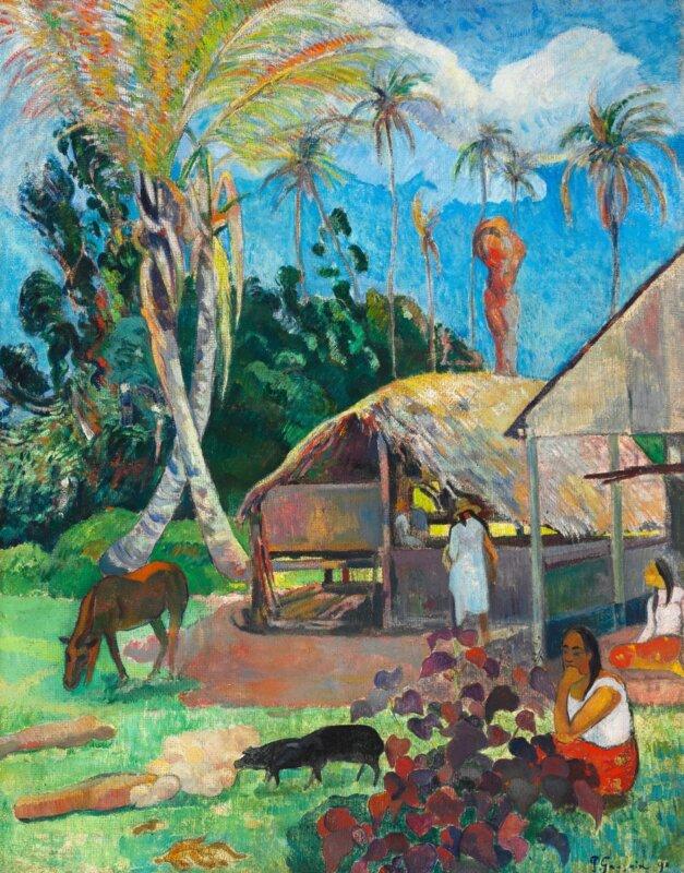 Paul Gauguin: A fekete sertések, 1891
