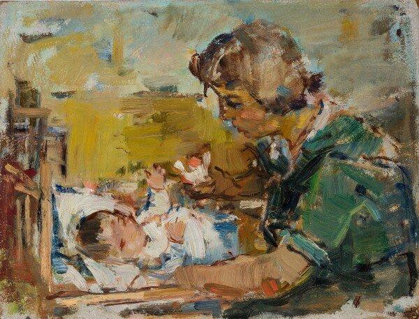 Teodor Harşia: Anyaság – forrás: Quadro Galéria