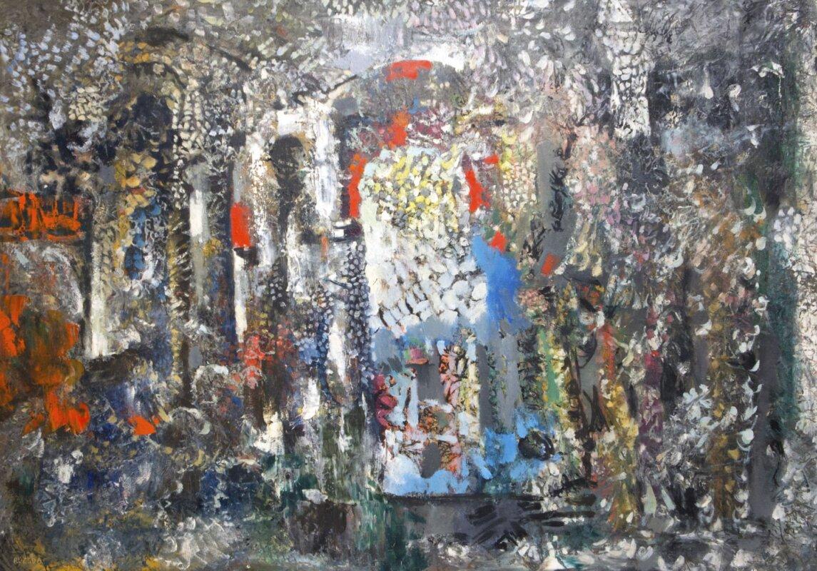 Rozsda Endre: Cím nélkül 1959, olaj, vászon, 65x92 cm, magántulajdon - forrás: Várfok Galéria
