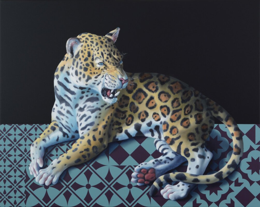 Orr Máté: Puha szörnyeteg 2021, olaj, akril, vászon, 80x100 cm, Várfok Galéria - forrás: Várfok Galéria