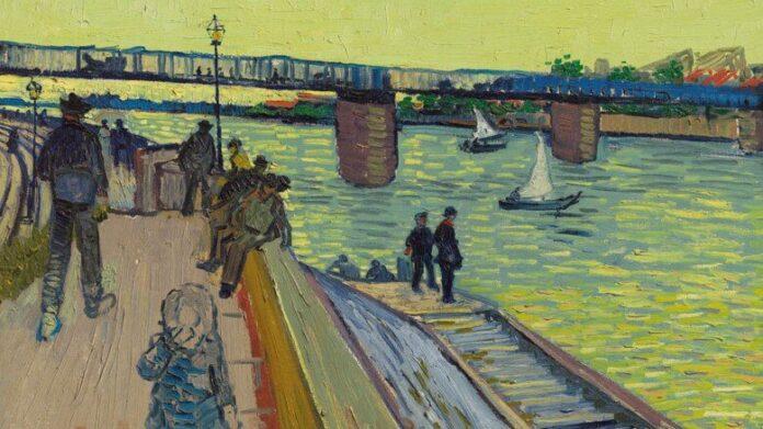 Vincent Van Gogh: A híd Trinquetaille-nál (részlet) – forrás: Christie's