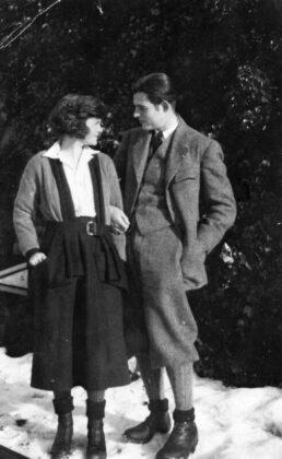 Ernest Hemingway és Elizabeth Hadley Richardson Svájcban 1922-ben - forrás: Ernest Hemingway Collection. John F. Kennedy Presidential Library and Museum, Boston.