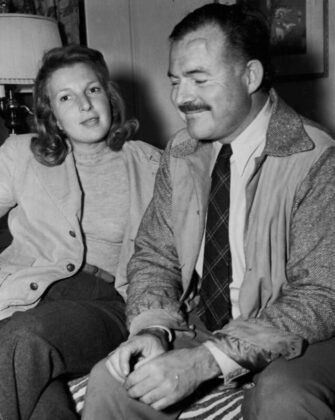 Ernest Hemingway és Martha Gellhorn Sun Valley 1940-ben - forrás: Ernest Hemingway Collection. John F. Kennedy Presidential Library and Museum, Boston.