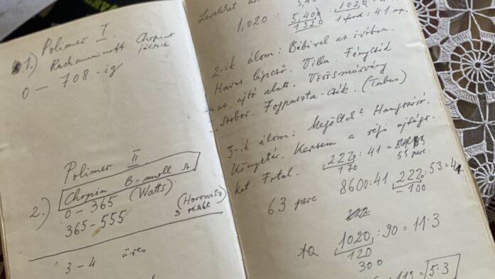 Pilinszky János kézirata - forrás: PIM