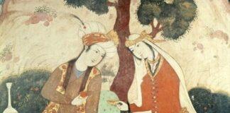 Miniatúra Abbász idejéből (részlet) - 1600 körül