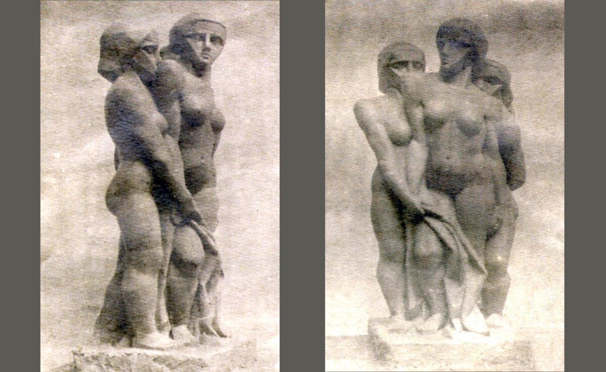 JOSEPH CSAKY: Group of Women II. 1912, original plaster, lost