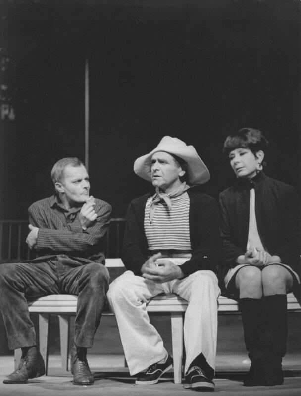 Darvas Iván, Bárdy György, Ruttkai Éva, Szerelem, ó!, Vígszínház, 1966. / Forrás: Vígszínház Archívum