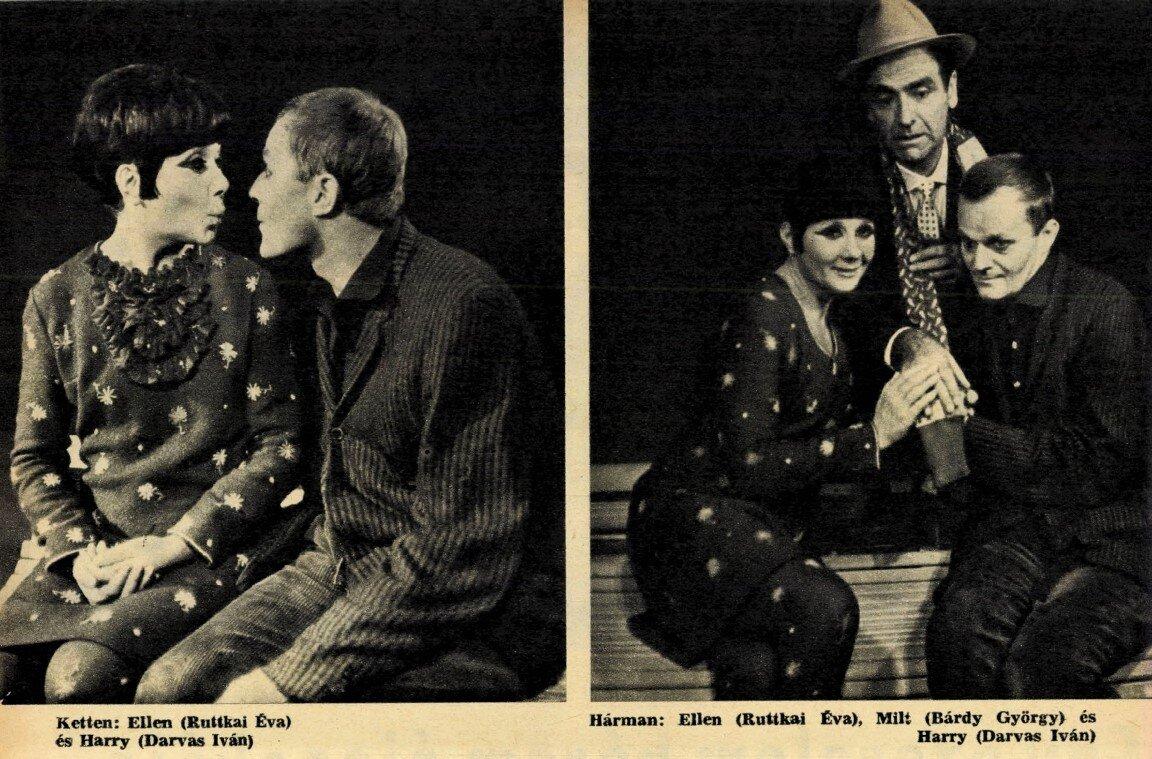 Darvas Iván, Bárdy György, Ruttkai Éva, Szerelem, ó!, Vígszínház, 1966. / Forrás: Film Színház Muzsika, 1966/ 41. 6. Arcanum