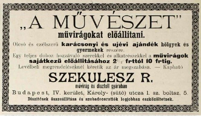 Magyar Géniusz (1892.12.25.) Hirdetések