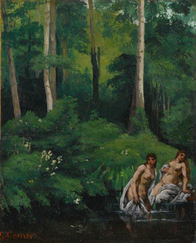 Gustave Courbet: Fürdőzők az erdőben – forrás: Sotheby's