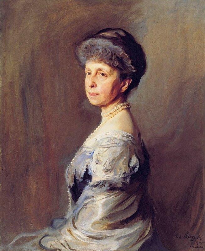 László Fülöp: Mária Krisztina királyné, 1910. Madrid, Patrimonio Nacional - Forrás: wikipedia