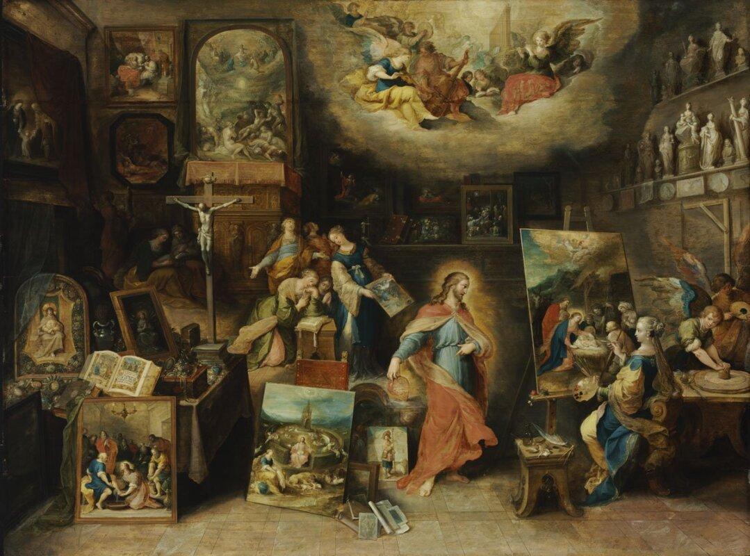 Frans Francken II. - Krisztus a festőműteremben, 1615-1620 - forrás: Szépművészeti Múzeum