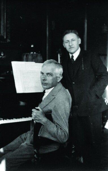 Bartók Székely Zoltán hegedűművésszel Nijmegenben (1925) | Fotó: Igminia Székely