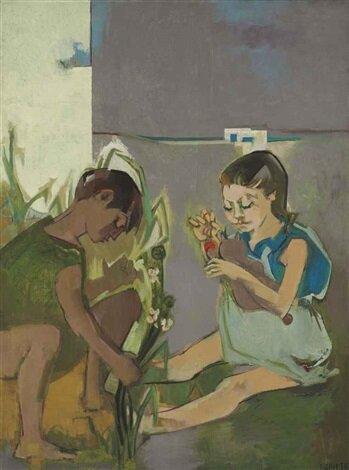 Françoise Gilot: Claude és Paloma Tuniszban – forrás: Christie's