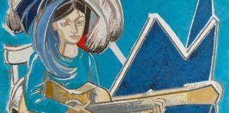 Françoise Gilot: Paloma gitárral (részlet) – forrás: Sotheby's