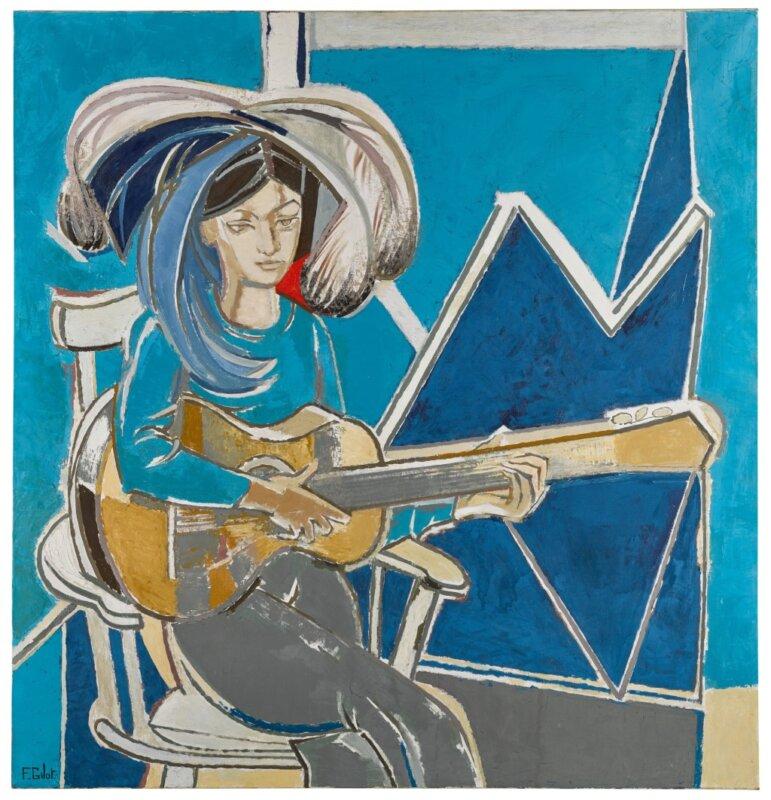 Françoise Gilot: Paloma gitárral – forrás: Sotheby's