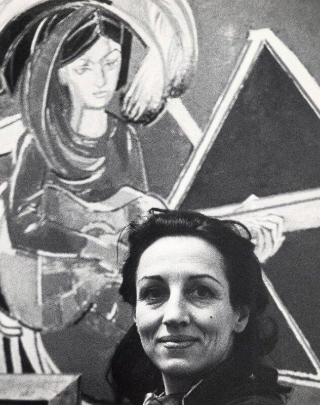 Françoise Gilot 1965-ben a most eladott festménnyel – forrás: Sotheby's