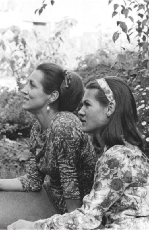 Françoise Gilot és Paloma Picasso 1964-ben – forrás: Sotheby's