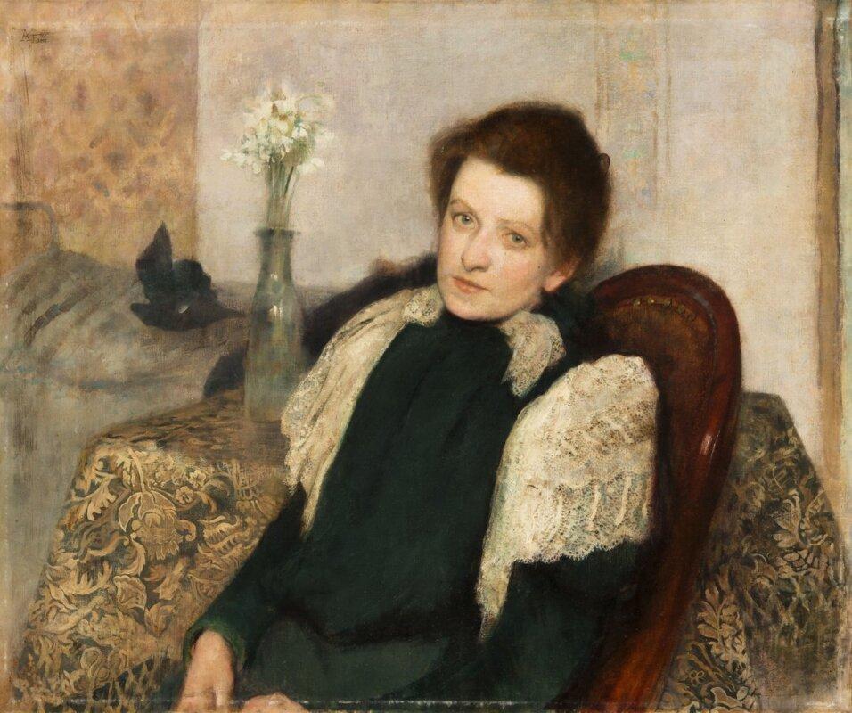 Körösfői-Kriesch Aladár: Feleségem arcképe, 1897 - forrás: Magyar Nemzeti Galéria