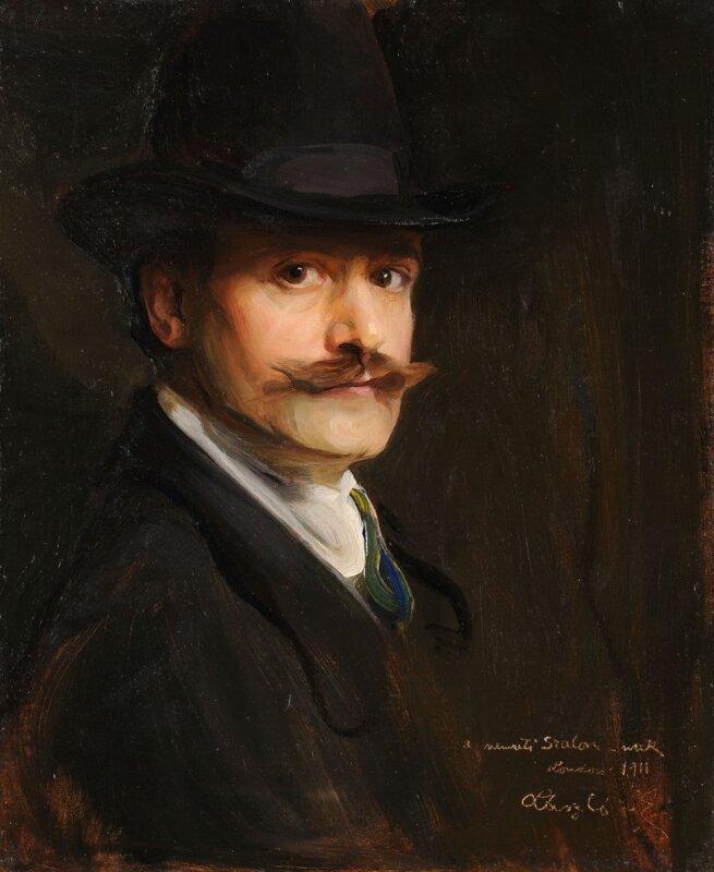 László Fülöp: Önarckép, 1911. Budapest, Szépművészeti Múzeum-Magyar Nemzeti Galéria