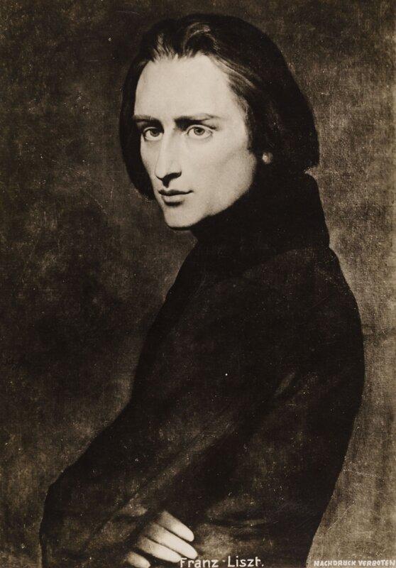 Louis Held: Liszt Ferenc fényképe. Hamburg, Museum für Kunst und Gewerbe