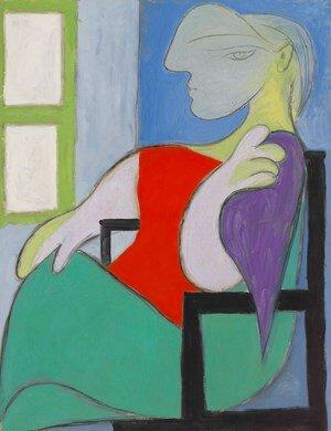 Pablo Picasso: Ablaknál ülő nő (Marie-Thérèse) – forrás: Christie's