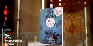 David Diop: At Night All Blood Is Black című könyve - forrás: a Nemzetközi Booker-díj FB-oldala