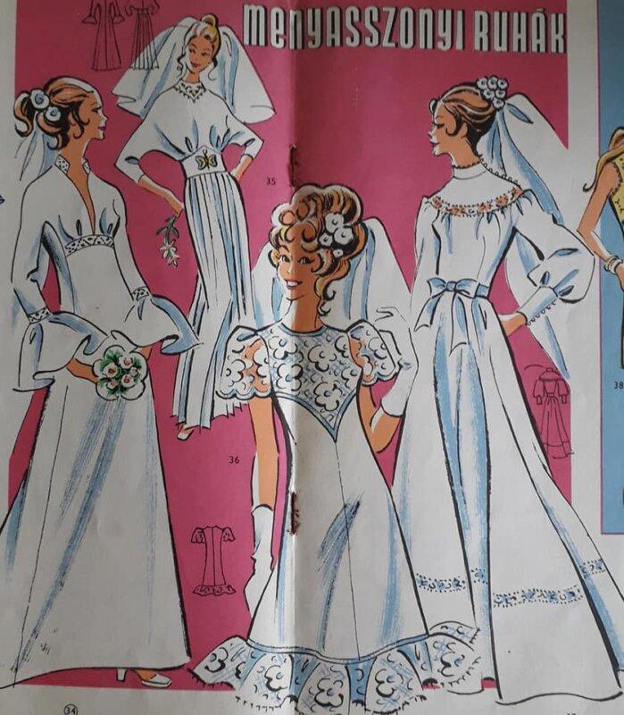 Esküvőiruha-modellek - forrás: Magyar menyasszony FB-csoport
