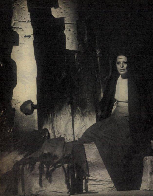 Ronyecz Mária az Árva Bethlen Kata című előadáson, Budavári Királyi Palota, 1975. / Forrás: Film Színház Muzsika Évkönyv, 1977/ 180. (ADT)