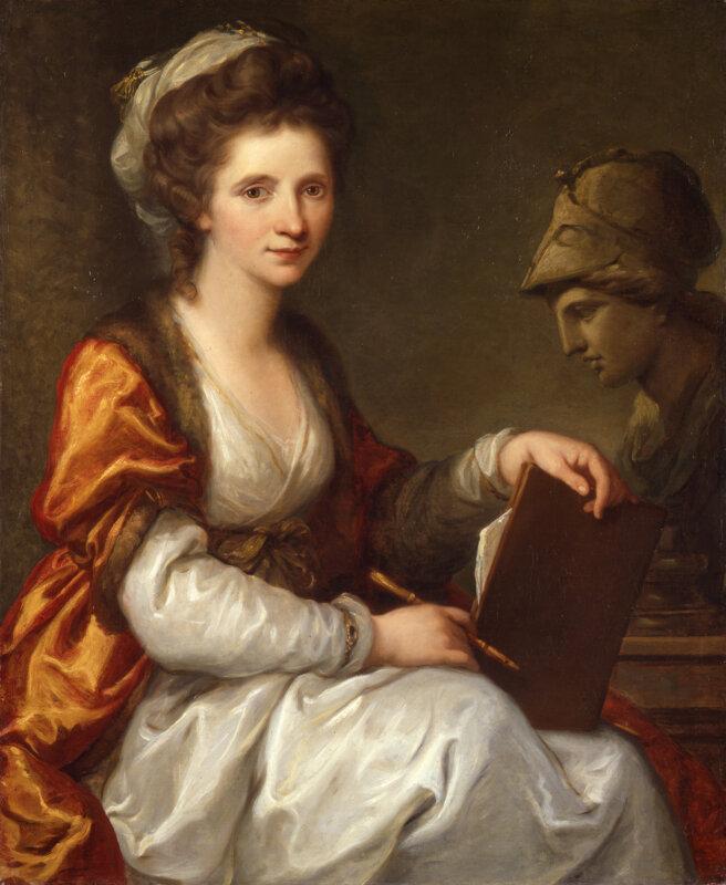 Angelica Kauffman: Önarckép Minerva mellszobrával, ca. 1784