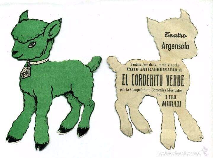 A El Corderito Verde című színdarab programja - Forrás: todocollecion.net