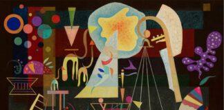 Vaszilij Kandinszkij: Megnyugvó feszültségek – forrás: Sotheby's