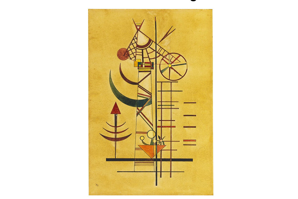 Vaszilij Kandinszkij: Ívelt csúcsok – forrás: Ketterer Kunst