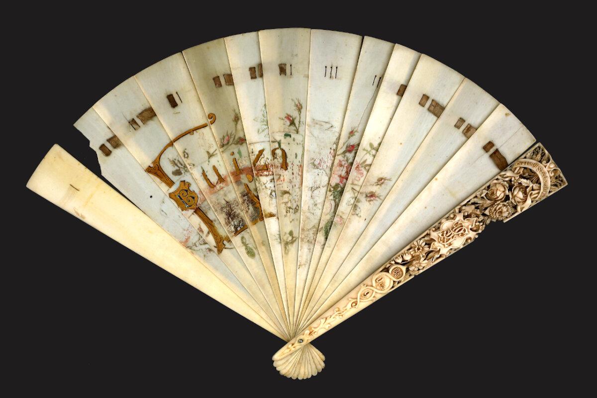 Blaha Lujza legyezője - forrás: Kiscelli Múzeum