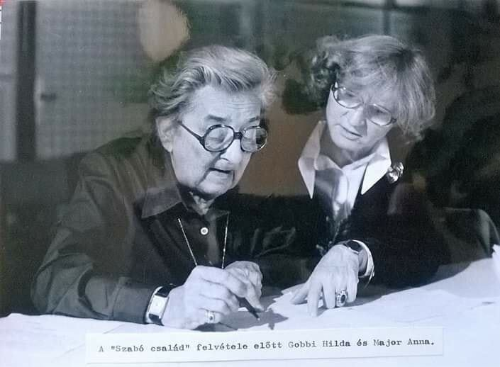Major Anna és Gobbi Hilda - forrás: Facebook