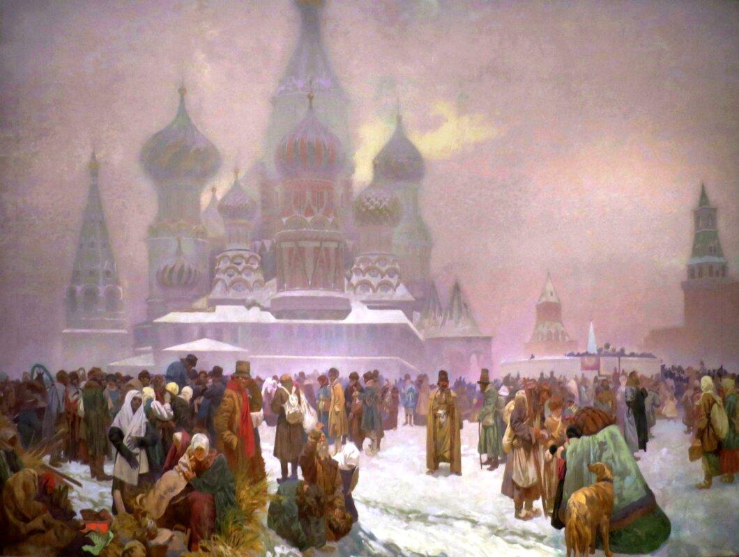 Alphonse Mucha: Jobbágyfelszabadítás Oroszországban - A munka szabadsága az Állam alapja - forrás: wikipedia