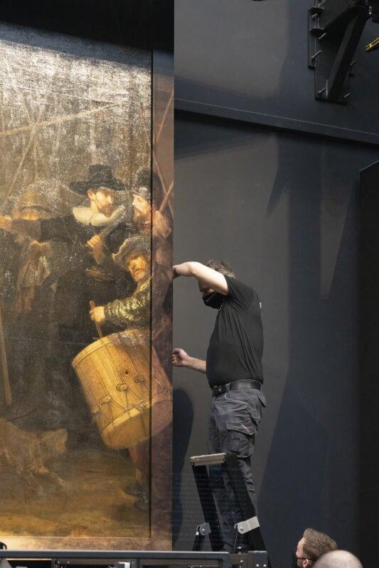 az Éjjeli őrjárat összeillesztése - fotó: Rijksmuseum/Reinier Gerritsen