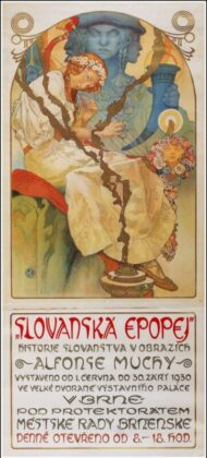 Alphonse Mucha: a Szláv eposz plakátja - forrás: wikipedia
