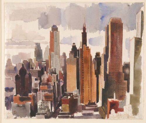 ABA-NOVÁK Vilmos: New York (Kilátás Munkácsi Márton műterme ablakából), 1935 - forrás: Szépművészeti Múzeum-Magyar Nemzeti Galéria