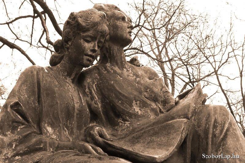 Strobl Alajos: Olvasó lányok - forrás: Köztérkép - Pál Tamás