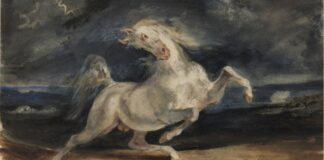 Eugène DELACROIX Villámlástól megriadt ló, 1825–1829 - forrás: Szépművészeti Múzeum-Magyar Nemzeti Galéria