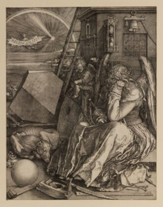 Albrecht DÜRER Melencolia I., 1514 - forrás: Szépművészeti Múzeum-Magyar Nemzeti Galéria