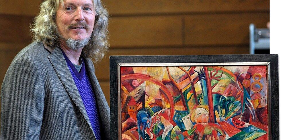 Wolfgang Beltracchi, az utóbbi évtizedek leghíresebb hamisítója és legismertebb, Heinrich Campendonk stílusában készült hamisítványa