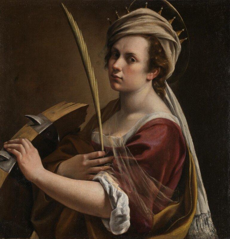 Artemisia Gentileschi: Önarckép alexandriai Szent Katalinként', circa 1615-17 - National Gallery London