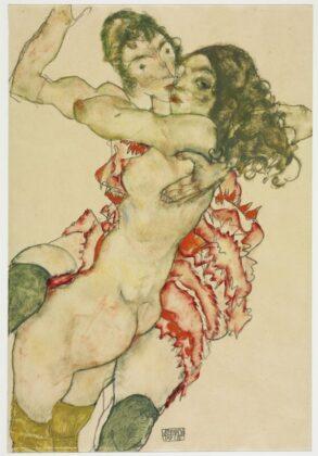 Egon SCHIELE: Ölelkező nők - forrás: Szépművészeti Múzeum-Magyar Nemzeti Galéria