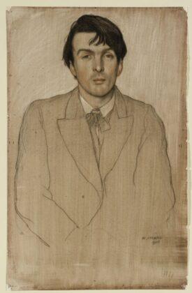 William STRANG: William Butler Yeats arcképe, 1903 - forrás: Szépművészeti Múzeum-Magyar Nemzeti Galéria