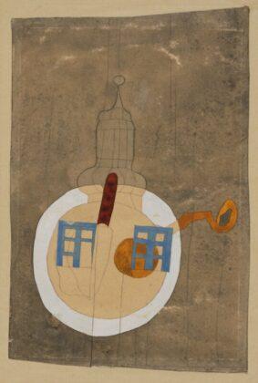 VAJDA Lajos: Toronytányéros csendélet, 1936–1937 - forrás: Szépművészeti Múzeum-Magyar Nemzeti Galéria